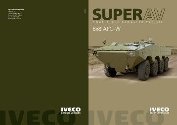 Iveco Superav 8x8 Amphibious Armoured Vehicle.pdf - Military ...