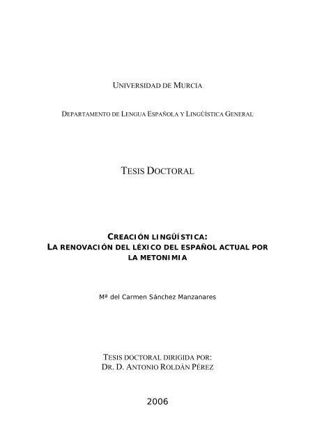 Tesis Doctoral Dr D A 2006 Exordio