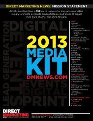 2013 Media Kit - Direct Marketing News