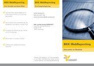 Flyer BKK WebReporting - BKK-Landesverband NORDWEST