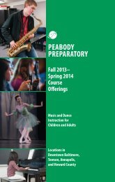 Fall/Spring 2013-2014 Catalog - Peabody Institute of The Johns ...