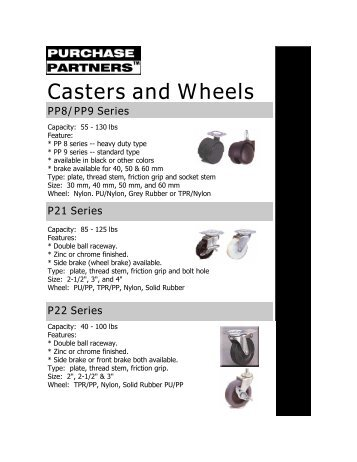 Casters and Wheels.pdf - Purchase Partners