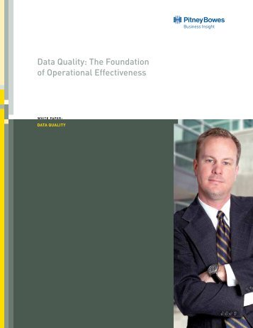 Data Quality: The Foundation of Operational Effectiveness