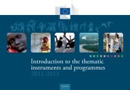 Introduction to the thematic instruments and programmes 2011-2013