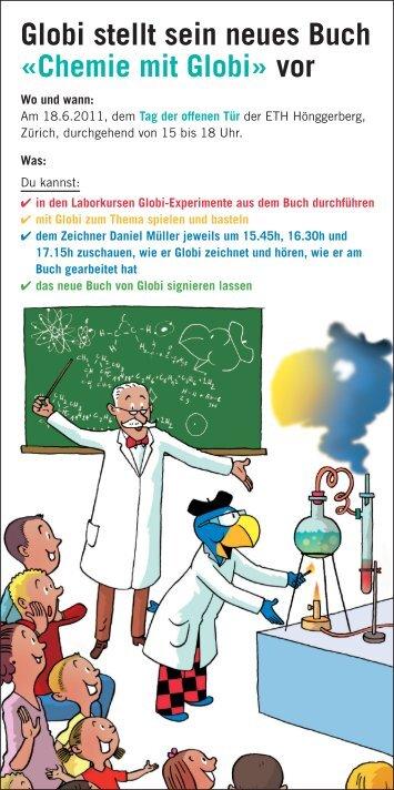Globi stellt sein neues Buch «Chemie mit Globi» vor - Globi Verlag