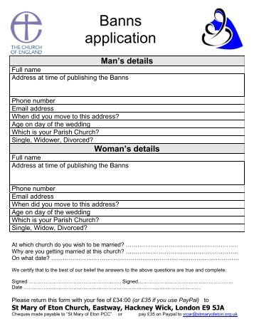 No record of marriage in queensland application pdf banns of marriage application form pdf yadclub Choice Image