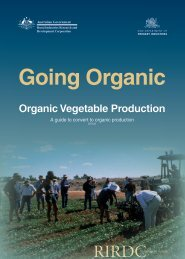 4. Organic vegetable production