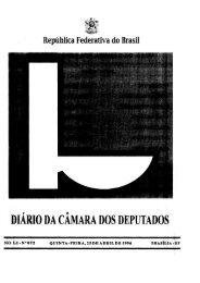 DIARIO DA CAMARA DOS DEPUTADOS - Câmara dos Deputados