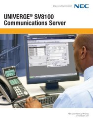 NEC SV8100 Brochure.pdf - Phone Experts
