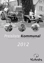 Preisliste gesamt Kommunaltraktoren deutsch ... - Kaster-Schwollen