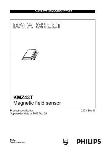 KMZ43T Magnetic field sensor