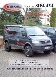 catalogue SEIKEL - T4 - SIFA 4x4