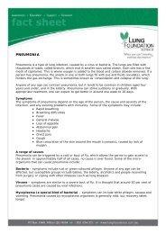 PNEUMONIA - Lung Foundation