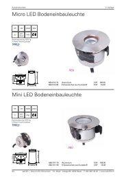 Micro LED Bodeneinbauleuchte Mini LED ... - selLED