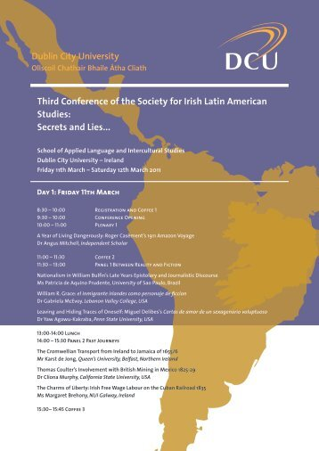Conference Programme - Society for Irish Latin American Studies