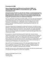 Pressebericht EMS Neues Abgasabführung-Überwachung-System ...