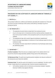 Corporate Procedure - Townsville City Council