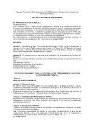 Decreto Supremo Nº 043-2003-PCM - Ministerio de Desarrollo e ...