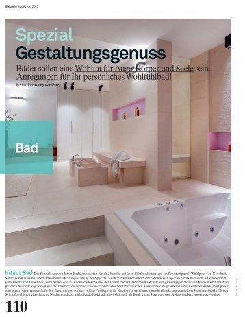 Spezial Gestaltungsgenuss Intact Bad - Archithema Verlag AG