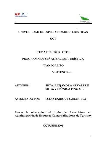 nanegalito - Repositorio Digital UCT - Universidad de ...