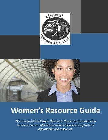 Women's Resource Guide - Missouri Women's Council
