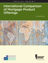International Comparison of Mortgage Product Offerings - Research ...