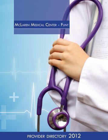 PROVIDER DIRECTORY - McLaren Health Care