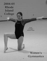 W.Gymnastics - Rhode Island College Athletics