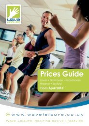 Prices Guide April 2013 - Wave Leisure
