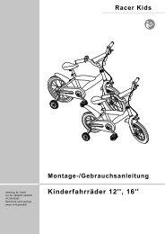 Kinderfahrräder 12'', 16'' - Athleticum