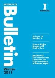 INTERIGHTS Bulletin