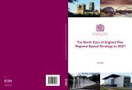 The North East of England Plan Regional Spatial Strategy to 2021