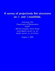 A survey of projectively flat structures on 2- and 3-manifolds.