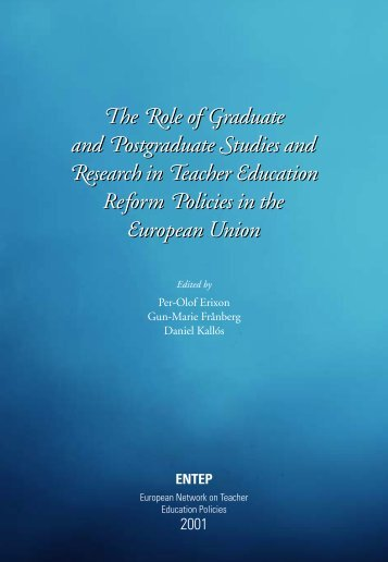he ole of raduate and ostgraduate tudies and esearch in eacher ...
