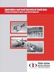 Agriculture and Food Security in South Asia - Bangladesh Online ...