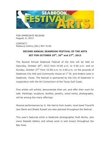 Seabrook Festival of the Arts