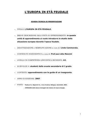 L'EUROPA IN ETÀ FEUDALE - Guerra Edizioni