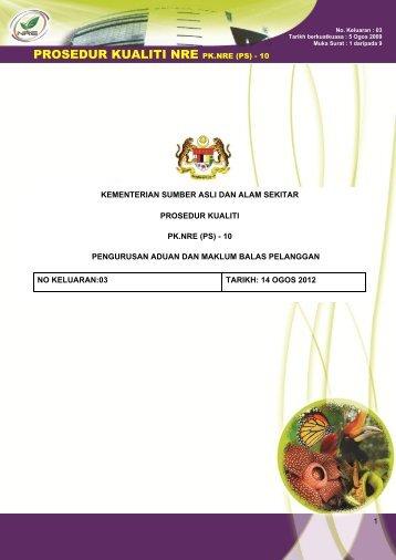 pk.nre (ps) - 10 pengurusan aduan dan maklum balas pelanggan