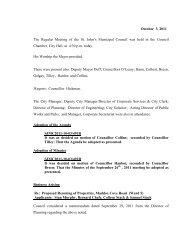 Council Minutes Monday, October 3, 2011 - City of St. John's