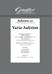 Varia-Auktion - Kunstauktionshaus  Günther in Dresden