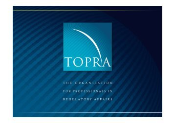 Assess and designate Notified Bodies - TOPRA