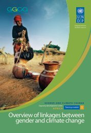 Overview of linkages between gender and climate change