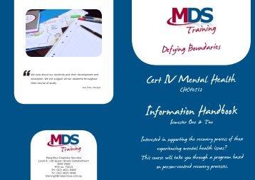 Certificate IV mental Health - NCOSS