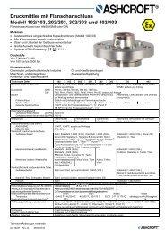 Datenblatt SEAL2 - Ashcroft Instruments GmbH