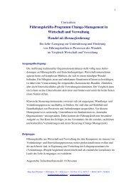 Change Management in Wirtschaft und Verwaltung - Wimmer ...