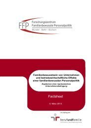 Factsheet - Forschungszentrum Familienbewusste Personalpolitik