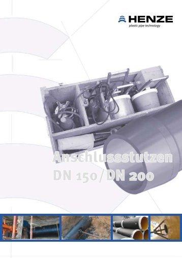 Einbau des Anschlussstutzens - Henze GmbH