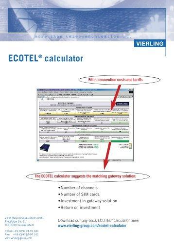 ECOTEL® calculator