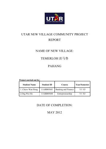 TEMERLOH 淡马鲁PAHANG DATE OF COMPLETION