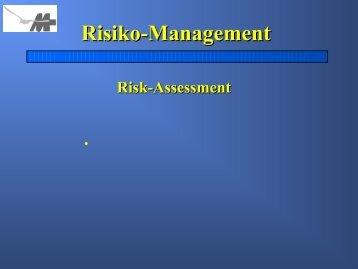 Risiko-Management Risk-Assessment